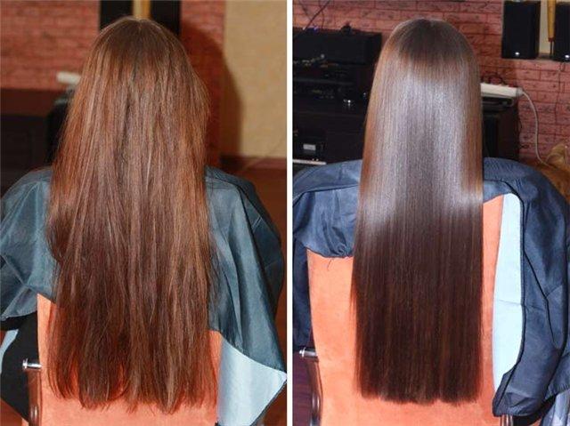 До кератинового выпрямления волос, После кератинового выпрямления волос!